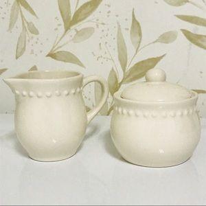 Pottery Barn Emma Sugar & Creamer Set